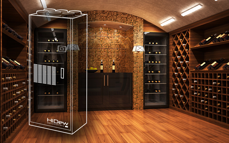Air treatment for wine cellars and light commercial applications
