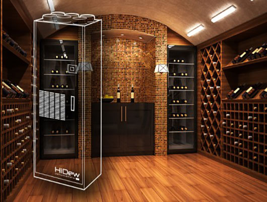 Air treatment for wine cellars