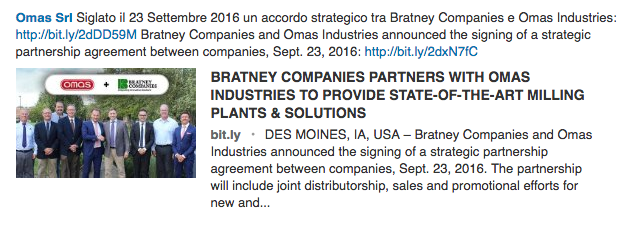 BRATNEY COMPANIES PARTNERS WITH OMAS INDUSTRIES TO PROVIDE STATE-OF-THE-ART MILLING PLANTS & SOLUTIONS
