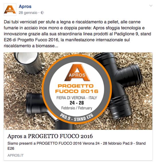 Apros a PROGETTO FUOCO 2016-Fiera di Verona