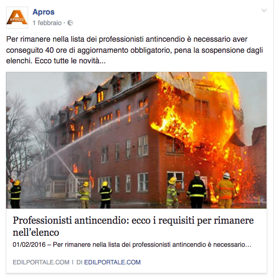 professionisti antincendio