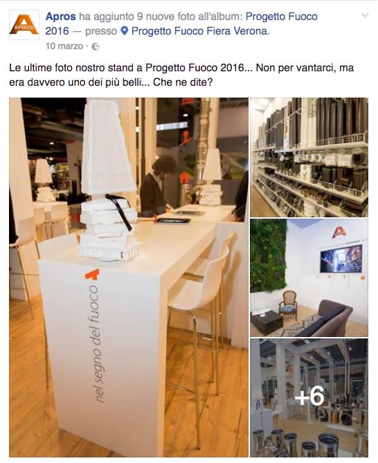 foto stand a Progetto Fuoco 2016