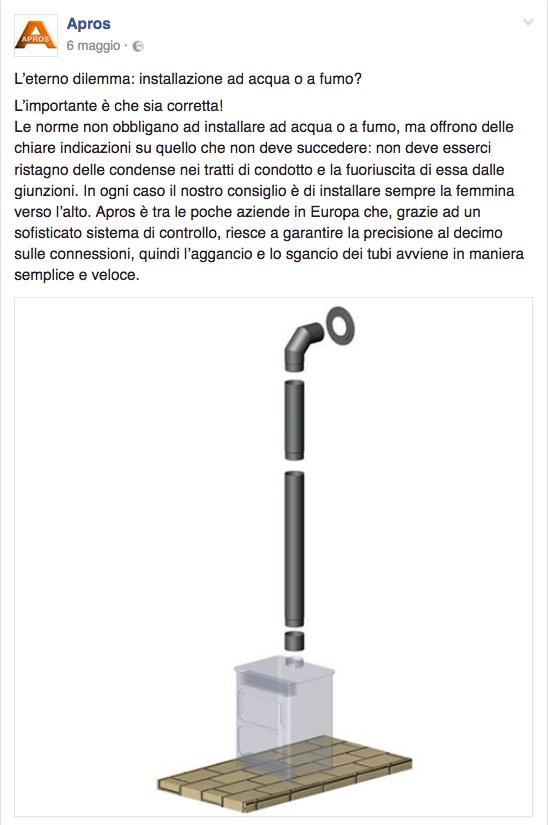 installazione ad acqua o a fumo