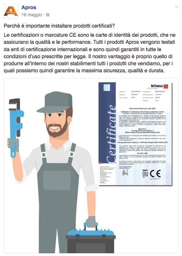 installare prodotti certificati