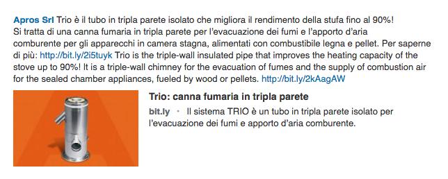 Trio: canna fumaria in tripla parete