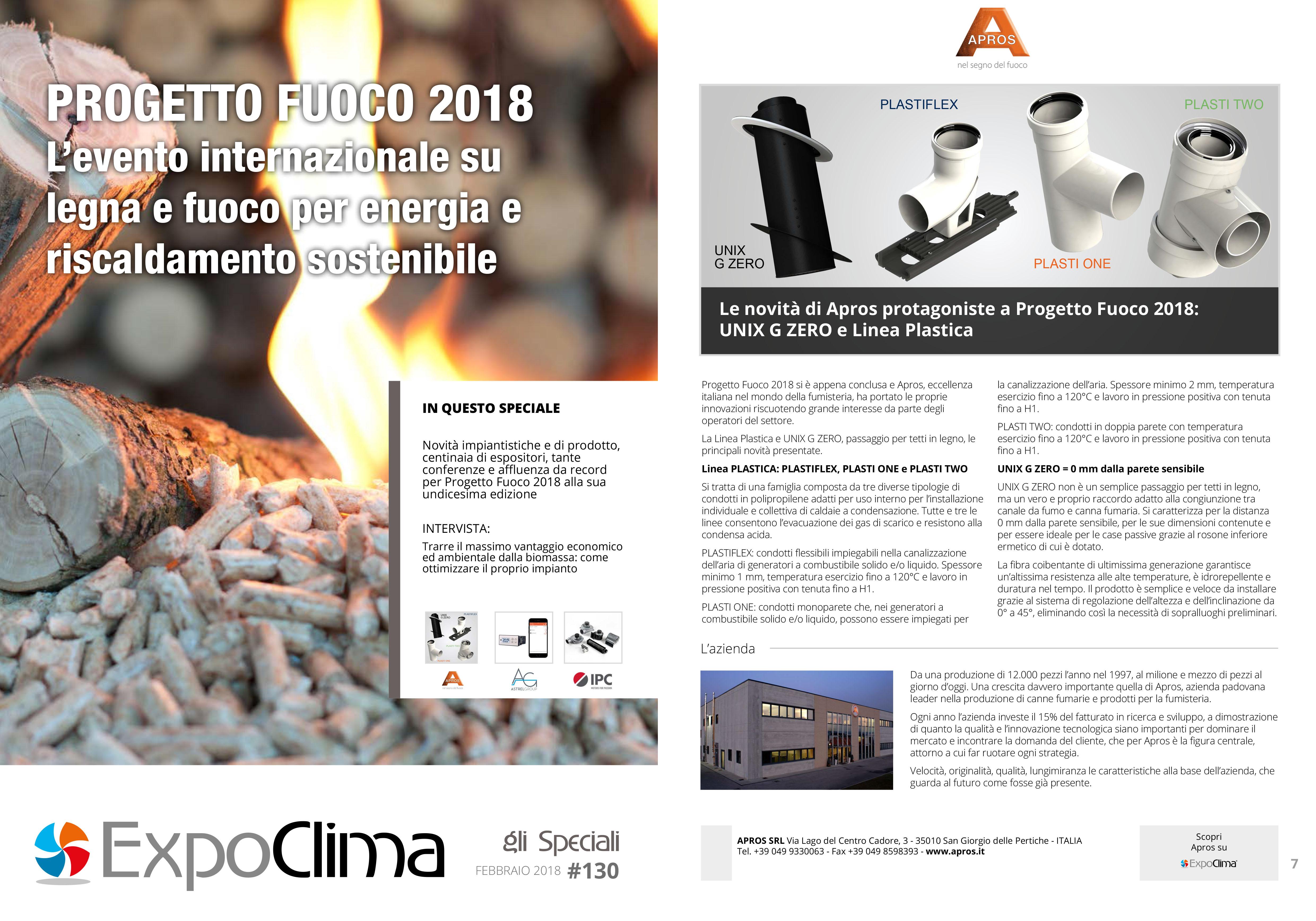 PROGETTO FUOCO 2018 L'evento internazionale su legna e fuoco per energia e riscaldamento sostenibile