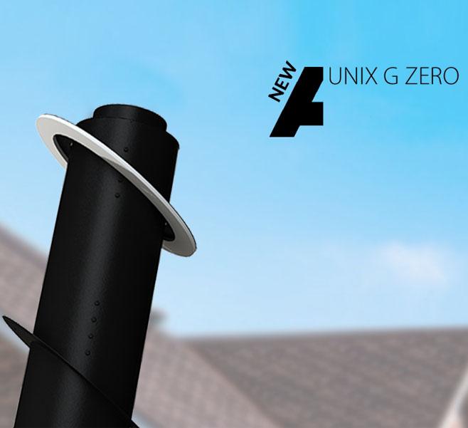 Apros presenta UNIX G ZERO, il nuovo passaggio per tetti in legno ottimale per le case passive