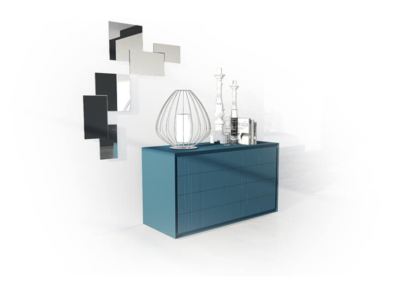 Modern chest of drawers and bedside tables