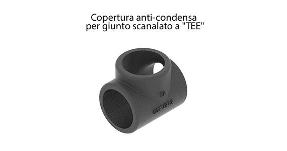 Copertura anti-condensa per curva scanalata e copertura anti-condensa per giunto scanalato a
