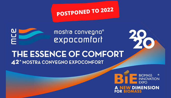 MCE - MOSTRA CONVEGNO EXPOCOMFORT RESCHEDULED IN MARCH 2022