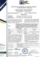 Certificato di conformità - PED (2014/68/UE)