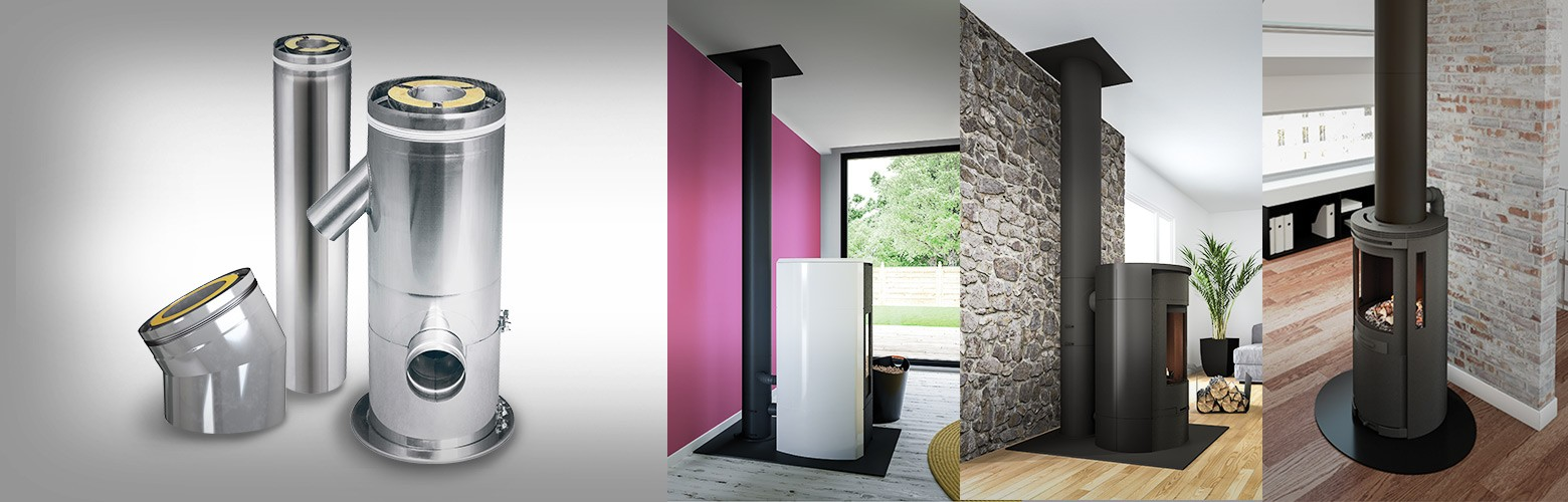 TRIO, triple wall chimney system: suitable for passive houses