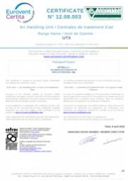 Certificato Eurovent