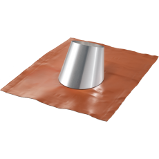 Flashing with rubber base for sloped roofs from 33° to 45°