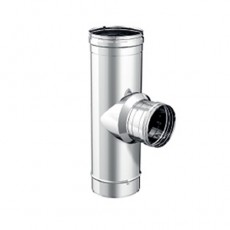 """90° """"T"""" pipe fitting reduced with coupler to be chosen"""