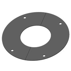 Plaque ronde de finition