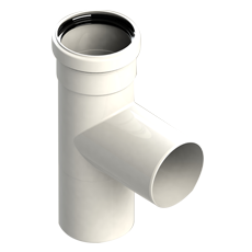 90° tee pipe-fitting male-female
