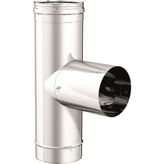 """90° """"T"""" pipe fitting with removable coupler"""