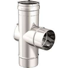 """90° """"T"""" pipe fitting male-female with inspection"""