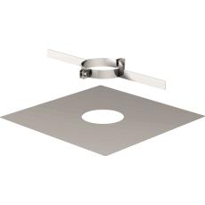 Plaque terminale pour tuyau flexible avec collier