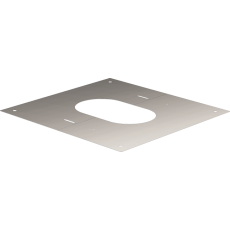 Square finishing plate from 0° to 30°