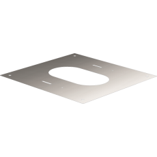 Square finishing plate from 30° to 45°