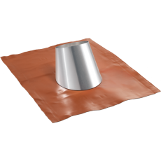 Flashing with rubber base for sloped roofs from 5° to 32°