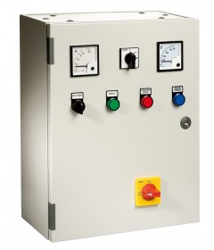 Direct starting electromechanical control panel