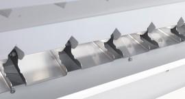Utilizzo di materali nobili anticontaminanti (quali alluminio ed acciaio inox AISI 304) sino allo scarico delle semole.