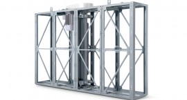 Side structures with structural frame in solid anodised aluminium profiles and double plate stainless steel panels, with a 25 mm gap filled with polyurethane foam.