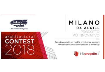 """I climatizzatori invisibili di Tekno Point sono stati votati come """"Prodotti più Innovativi"""" durante il convegno di """"Progettare il futuro"""" a Milano lo scorso 4 aprile"""