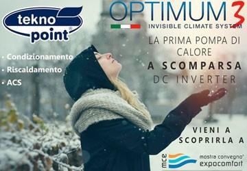 Optimum3 è il nuovo modello della linea di Climatizzatori Invisibili di Tekno Point