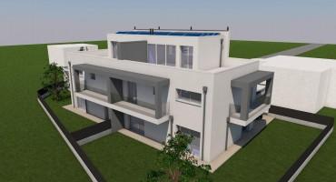 lotto edificabile con progetto bifamiliare