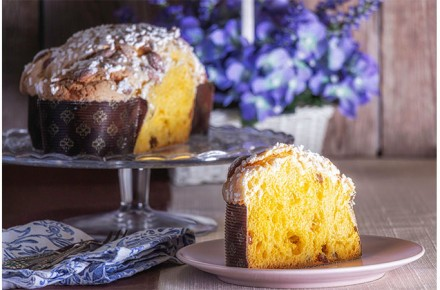 Panett-1 Plus 2% pastry improver: recipe for artisanal Easter Colomba cake with sourdough