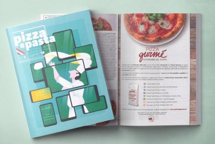 pizza e pasta italiana - pagina pubblicitaria pizza gurmè (aprile 2018)