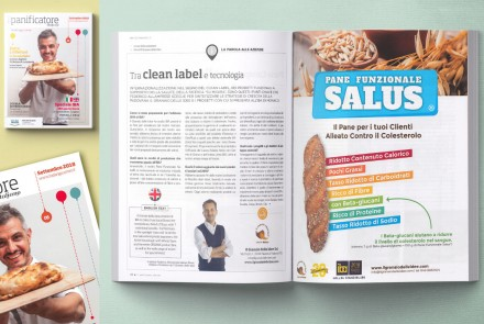 """IL PANIFICATORE"" MAGAZINE – INTERVIEW AND ADV ABOUT PANE FUNZIONALE SALUS (SEPTEMBER 2018)"