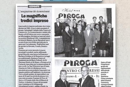 il gazzettino di padova - le magnifiche tredici imprese (11/05/2004)