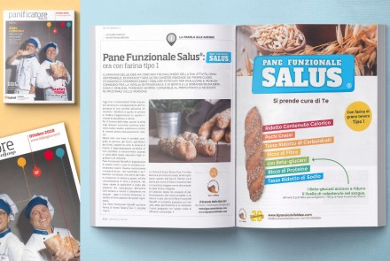 """IL PANIFICATORE"" MAGAZINE – ARTICLE AND ADV ABOUT PANE FUNZIONALE SALUS (OCTOBER 2018)"