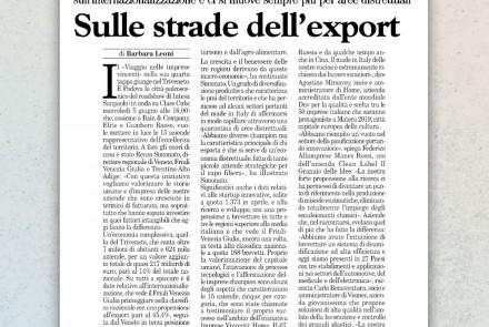 MILANO FINANZA - SULLE STRADE DELL'EXPORT (GIUGNO 2019)