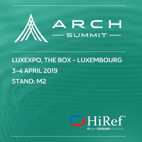 3 - 4 Aprile: HiRef all'Arch Summit 2019