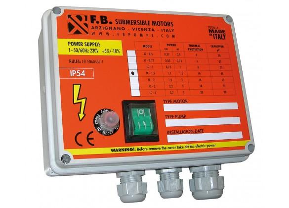 Coffret électrique démarreur monophasé avec condensateur
