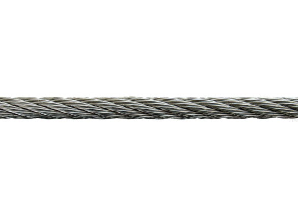 Stainless steel rope for the anchorage of the pump