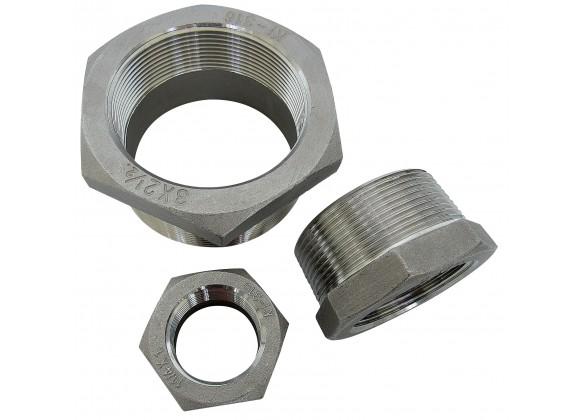 Riduzioni per corpi pompa in acciaio inox AISI 316