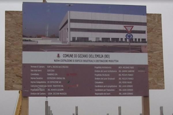 Proseguono i lavori per l'hub di Ozzano dell'Emilia. Il gruppo Transpack prosegue il piano di espansione.