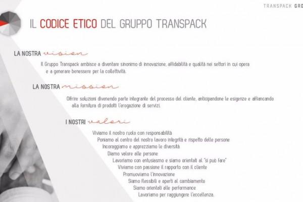 Transpack Group introduce un codice etico nei processi aziendali
