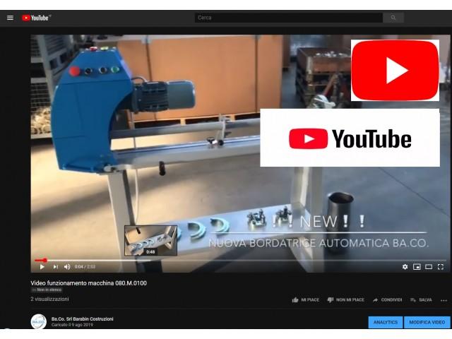Nuovo video funzionamento TAGLIABORDA 080.M.0100
