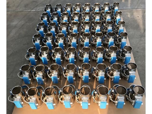 Produzione deviazioni elettropneumatiche inox lucido con cablaggio elettrico integrato
