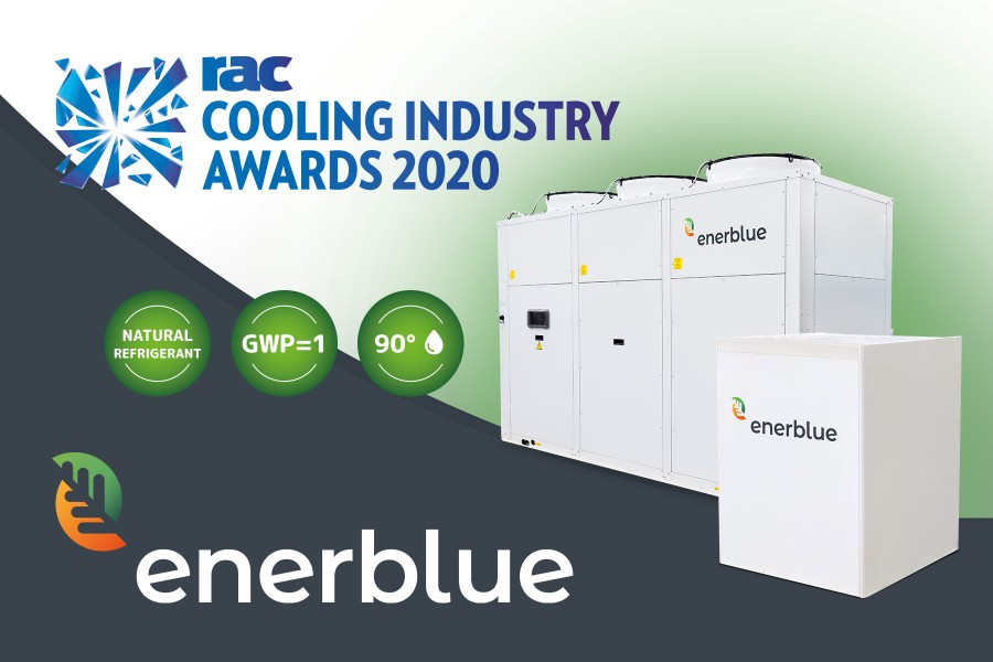 RAC Cooling Industry Awards 2020: Klima-Therm finalista del premio con HP90 di Enerblue