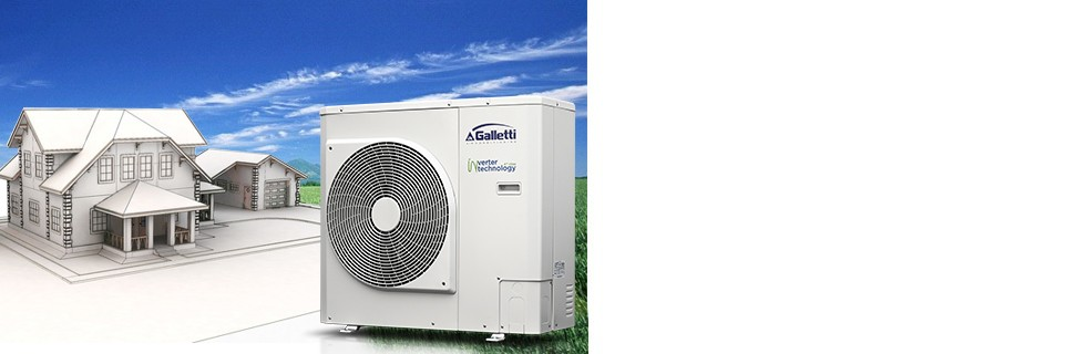 Pompe di calore full inverter ad alta efficienza MCI